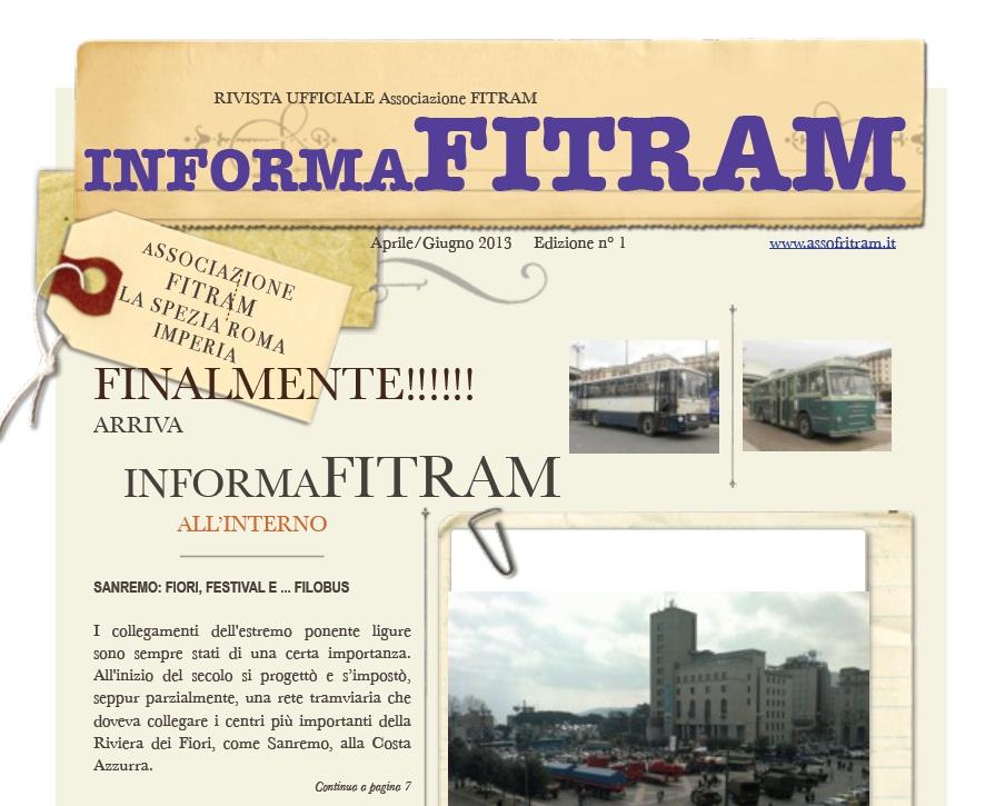 RICHIEDI IL NOSTRO GIORNALINO InformaFITRAM